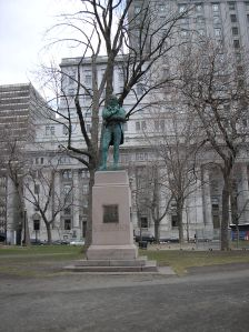Burns Statue, Dominion Square, Montreal.