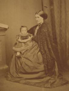 Mary Paulin and child, circa 1860-70s, c. Kathleen Paulin