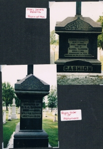 Views of the Cashion Monument, Williamstown