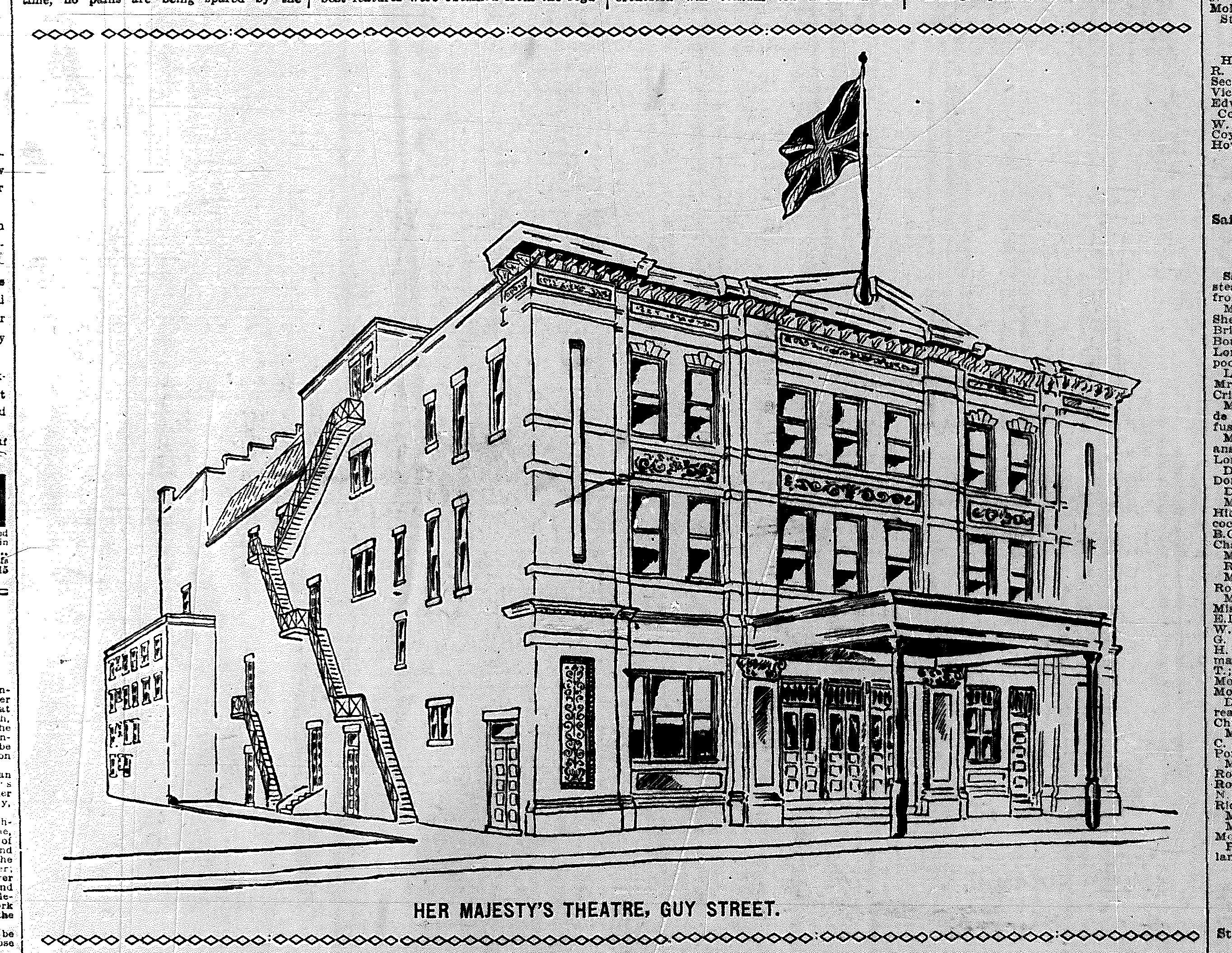 Her Majesty's Theatre, Montreal, 1898