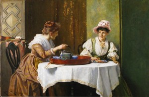 """A Little Tea and Gossip"" 1859, by Robert Payton Reid, Cider House Galleries"