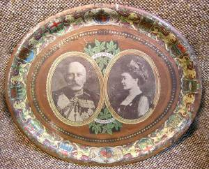 Duke and Duchess of Connaught Toleware from angloboerwarmusem.com  c.1911