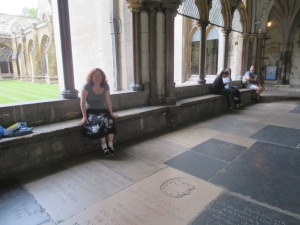 Richard and Frances are interred near my feet in the North Cloister
