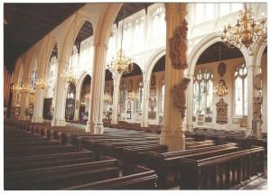 St Margaret's Church interior- postcard
