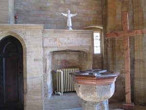 Side part of Lady Chapel with fireplace