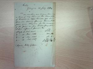 Receipt dated 15 July 1824, GD 130/3/15(2), Dumfries and Galloway Council Archives.