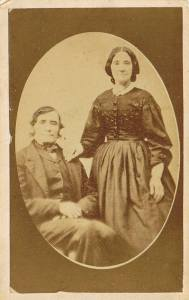 William Leitch and his wife Nicholas Bryden c 1860