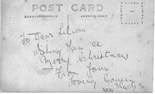 Gladys Higgins c1920 back