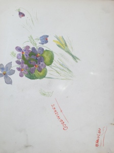 Sketch done by Hilda Paulin from the collection of S Bunting
