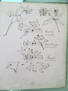 Sketch by Irene Paulin from the collection of S Bunting