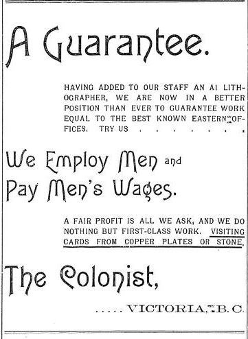 daily colonist 1896-7-1 - Colonist sexist ad