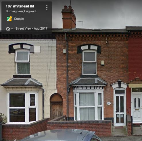 107 Whitehead Road Aston - home of family 1897